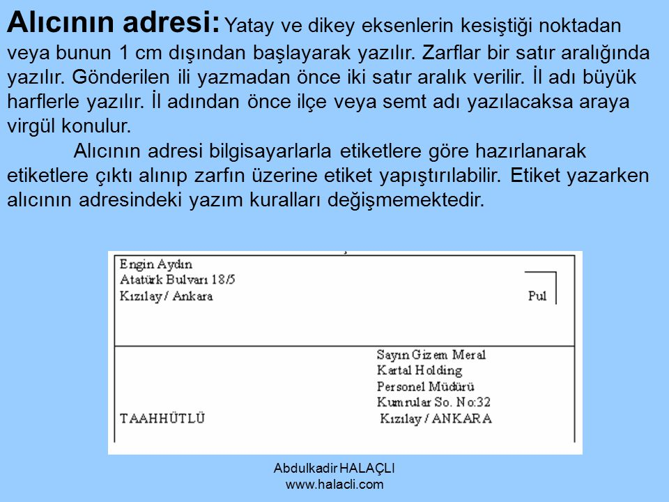 Abdulkadir HALAÇLI www.halacli.com