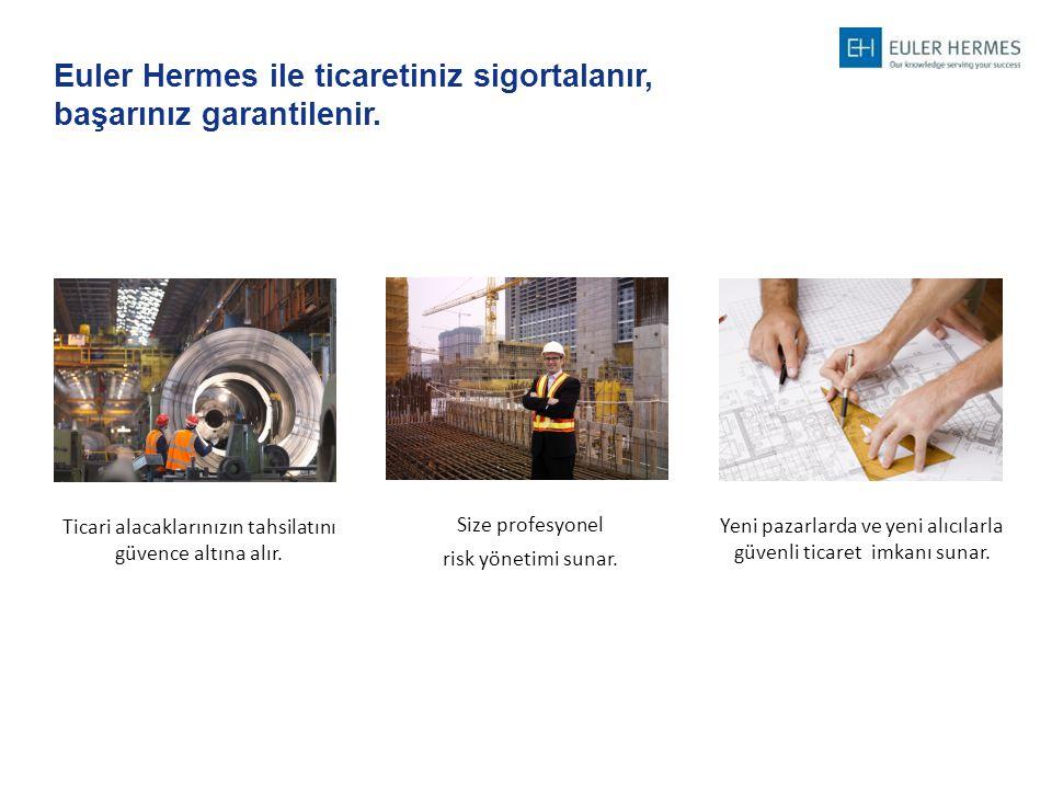 Euler Hermes ile ticaretiniz sigortalanır, başarınız garantilenir.