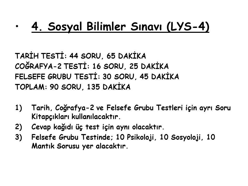 4. Sosyal Bilimler Sınavı (LYS-4)