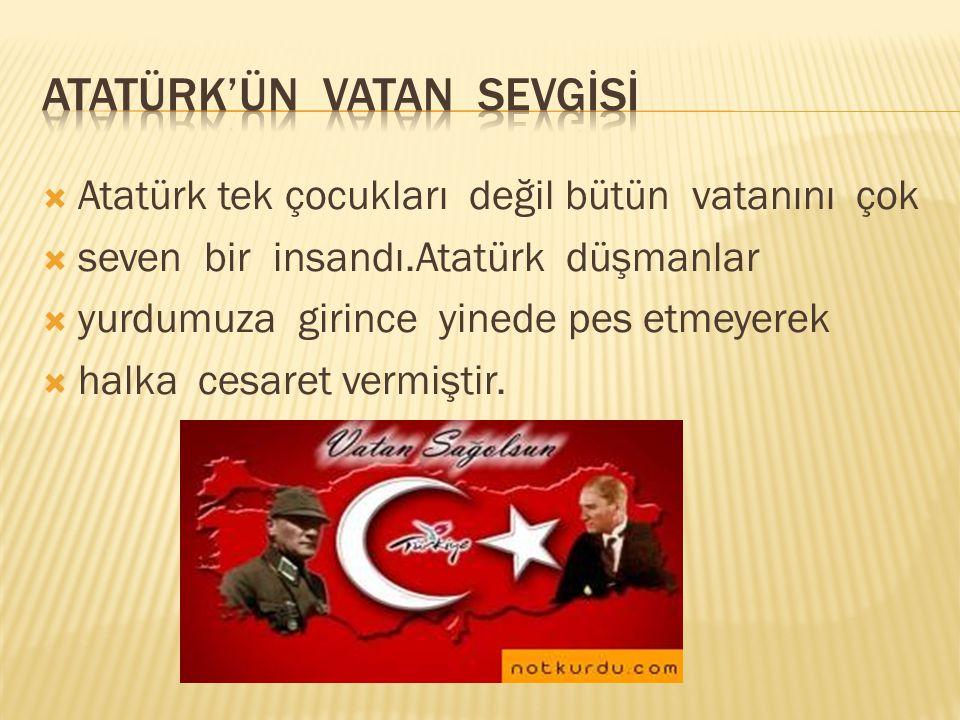 Atatürk'ün vatan sevgİsİ