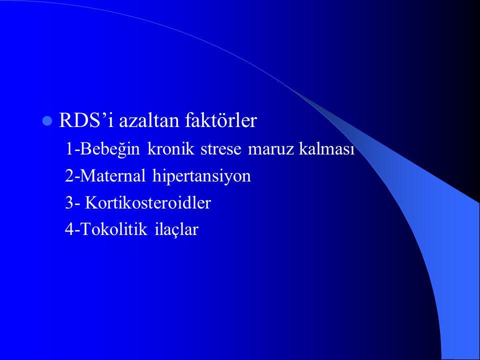 RDS'i azaltan faktörler