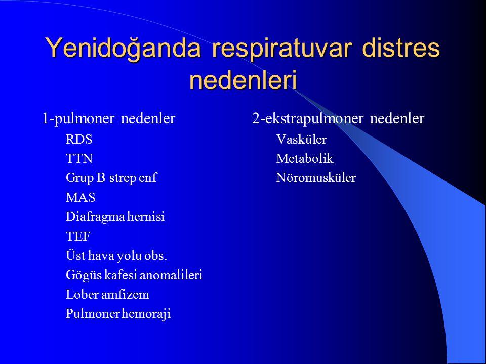 Yenidoğanda respiratuvar distres nedenleri