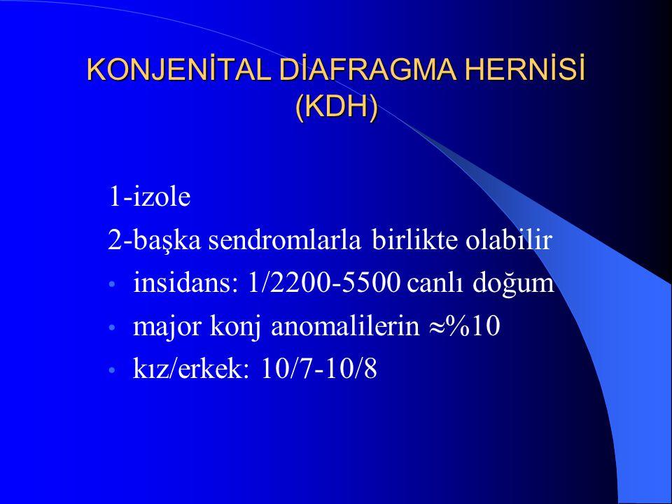 KONJENİTAL DİAFRAGMA HERNİSİ (KDH)