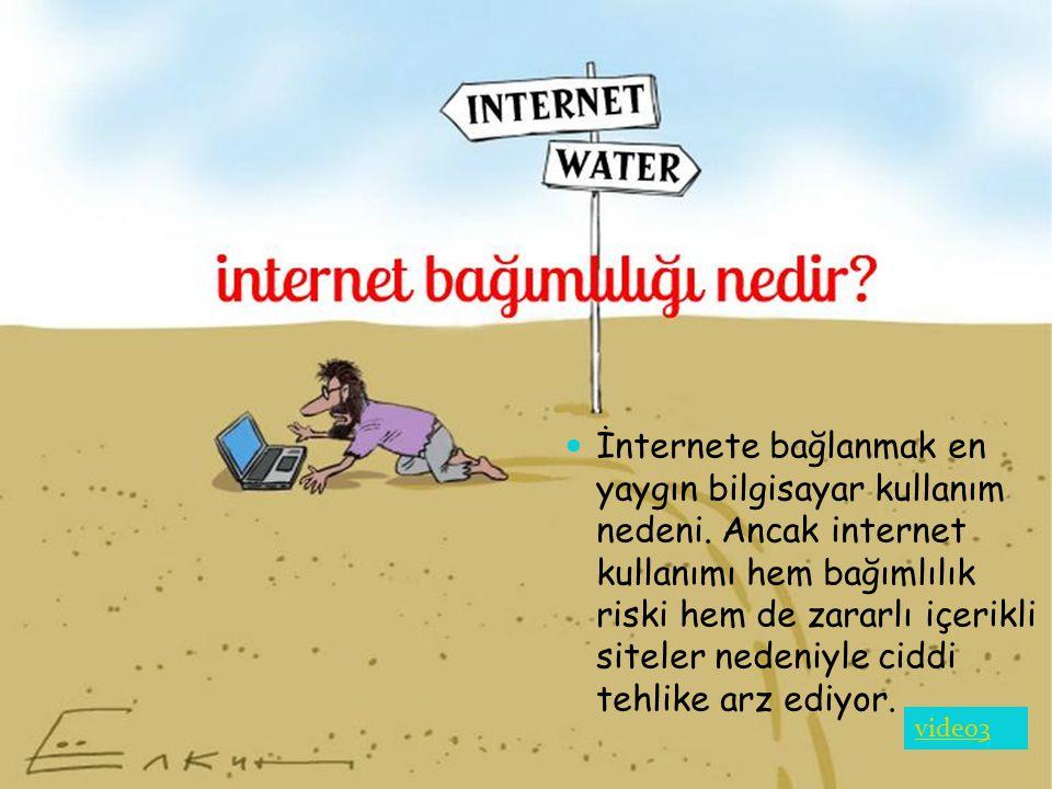 İnternete bağlanmak en yaygın bilgisayar kullanım nedeni
