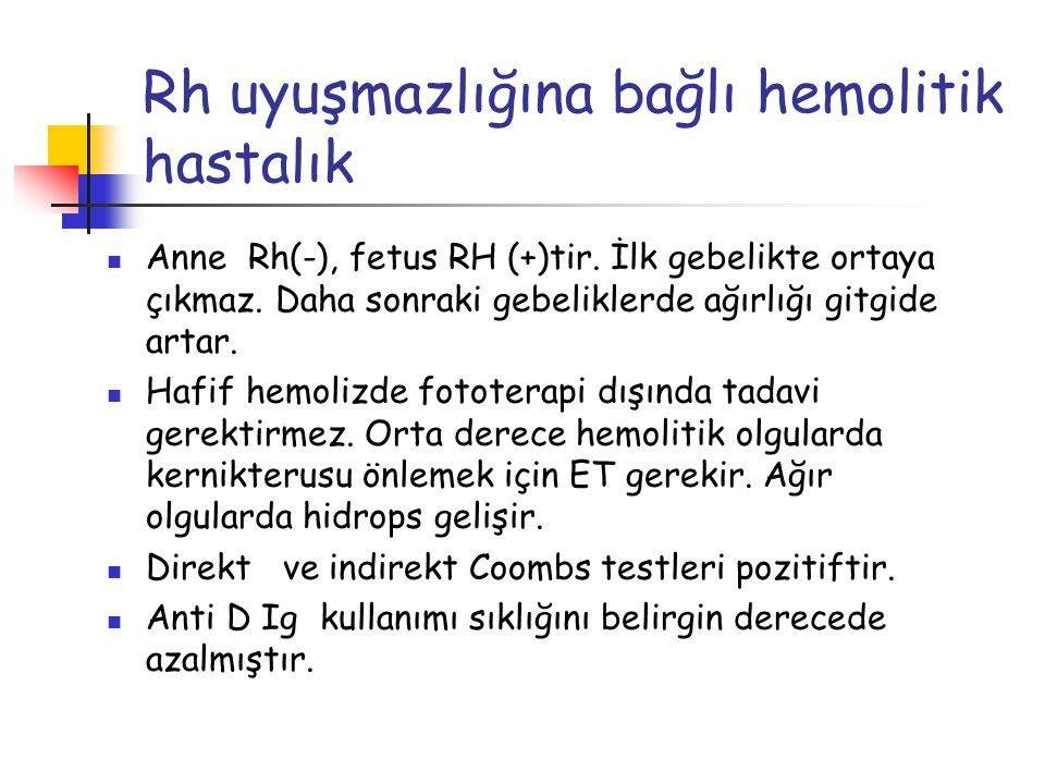 Rh uyuşmazlığına bağlı hemolitik hastalık