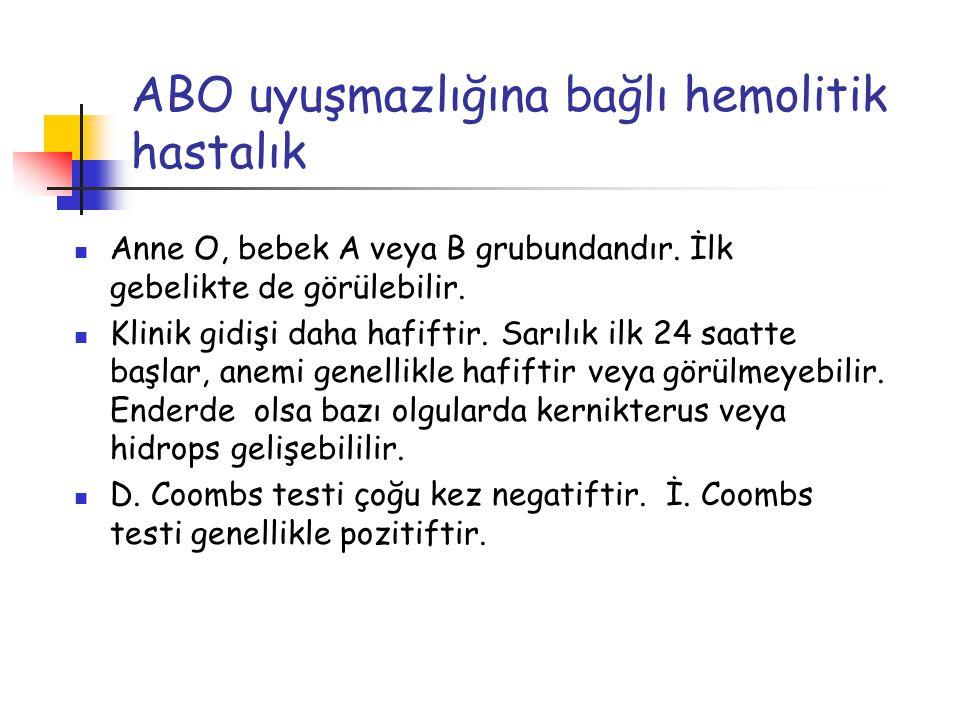 ABO uyuşmazlığına bağlı hemolitik hastalık