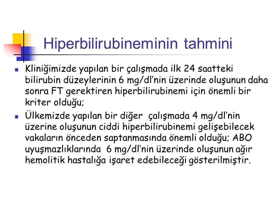 Hiperbilirubineminin tahmini