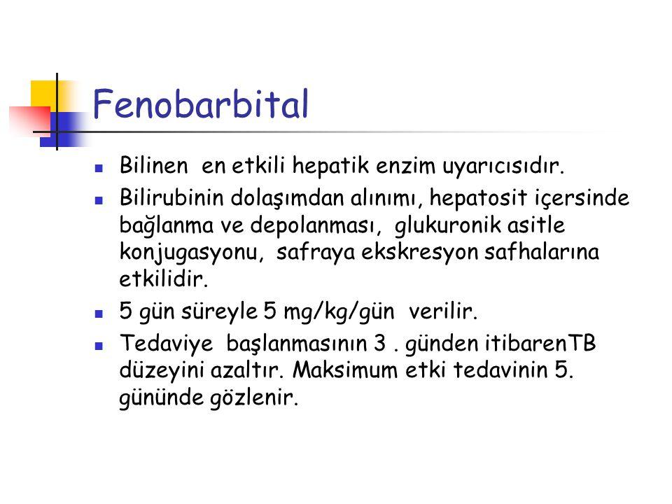 Fenobarbital Bilinen en etkili hepatik enzim uyarıcısıdır.