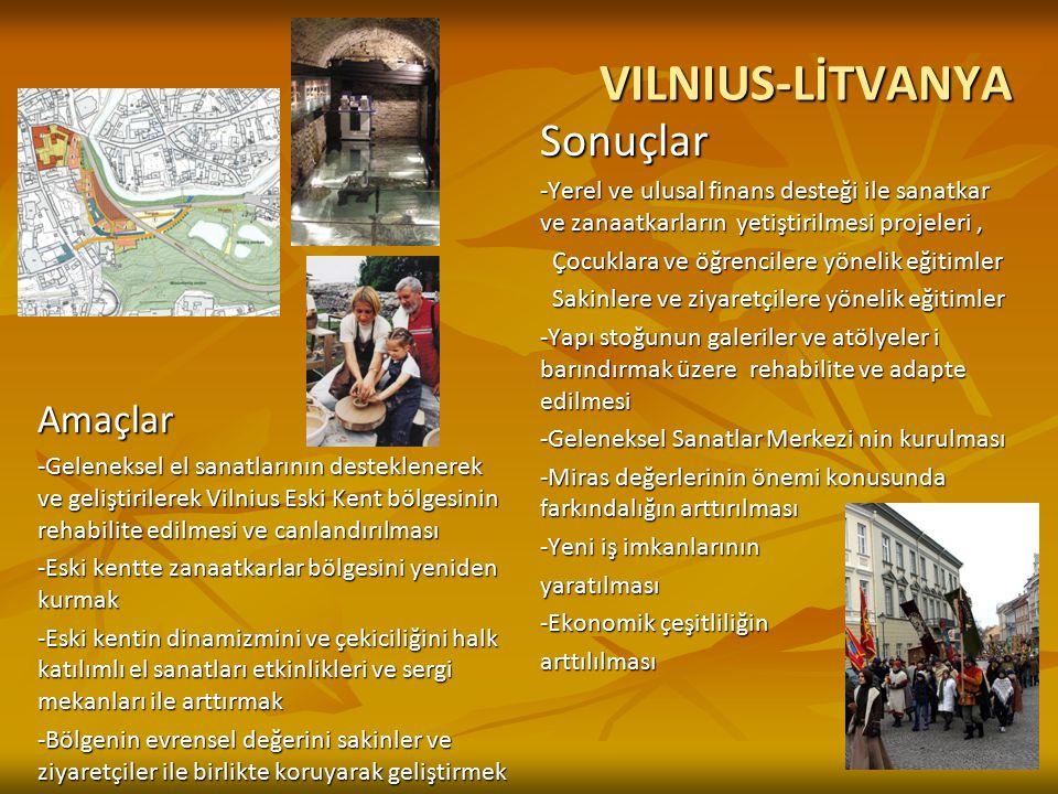 VILNIUS-LİTVANYA Sonuçlar Amaçlar