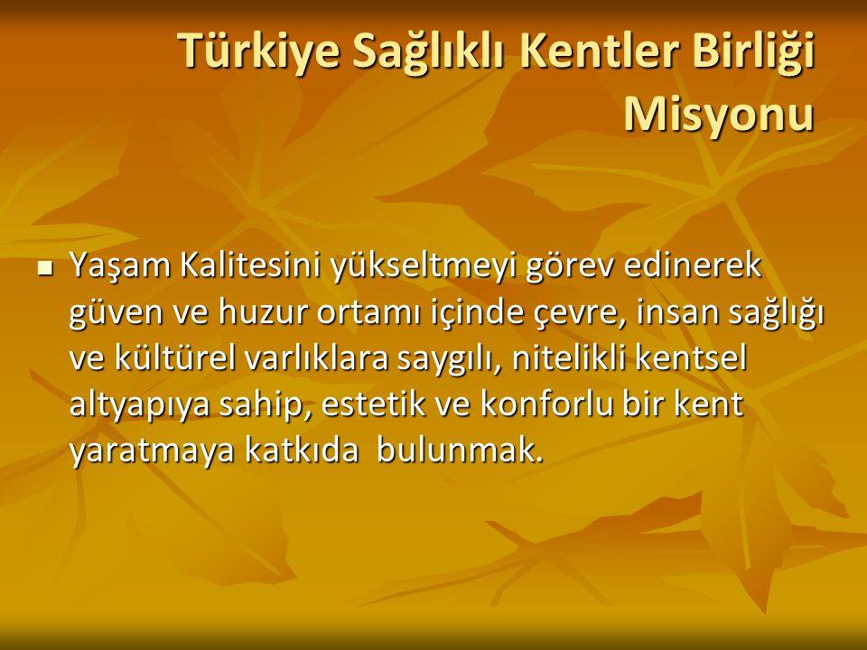 Türkiye Sağlıklı Kentler Birliği Misyonu
