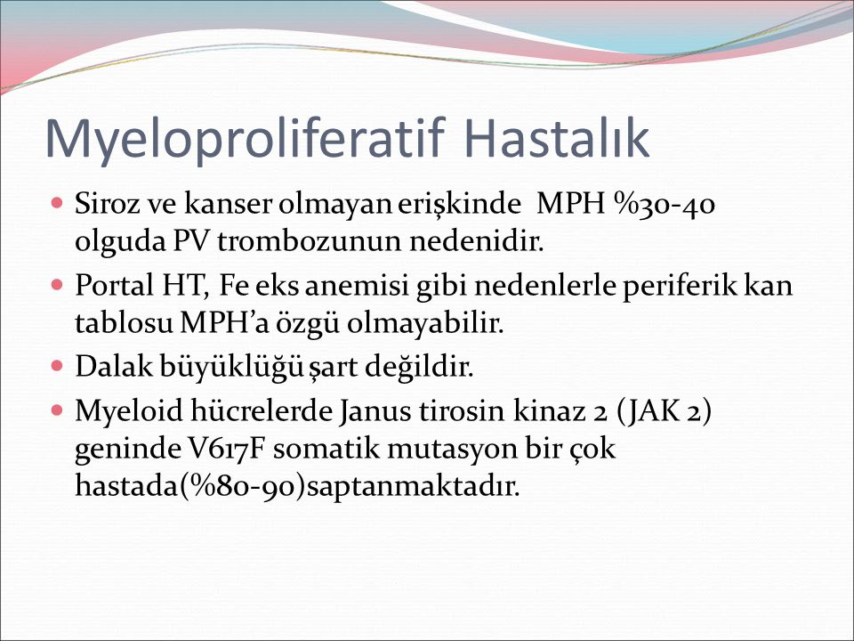 Myeloproliferatif Hastalık