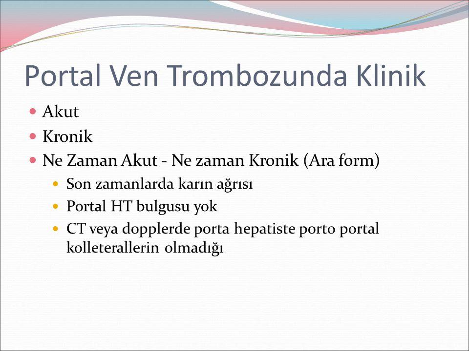 Portal Ven Trombozunda Klinik