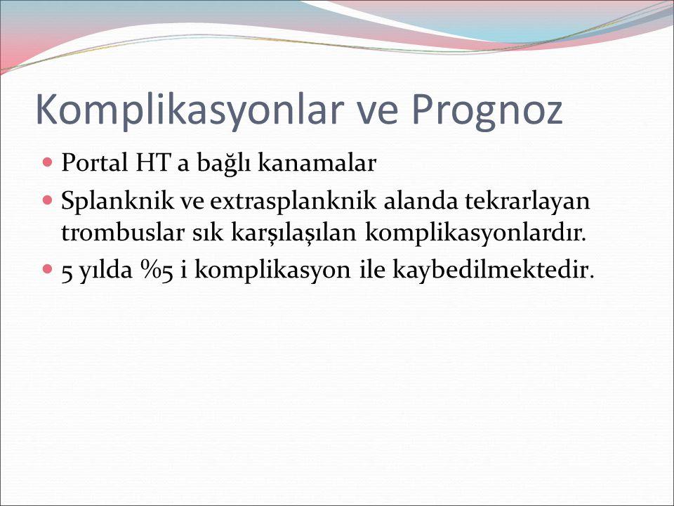 Komplikasyonlar ve Prognoz