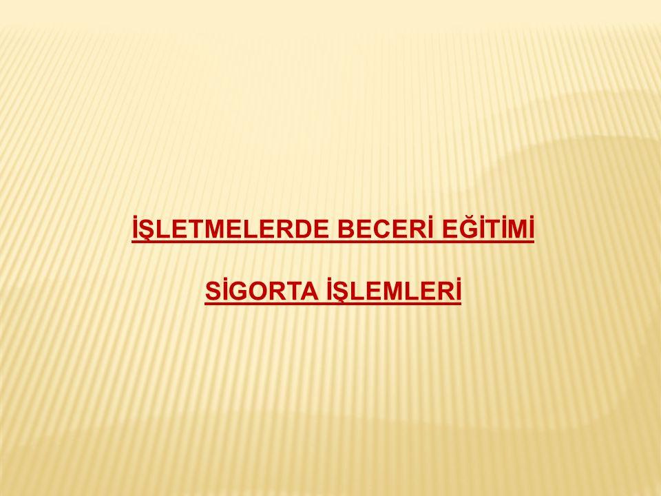 İŞLETMELERDE BECERİ EĞİTİMİ