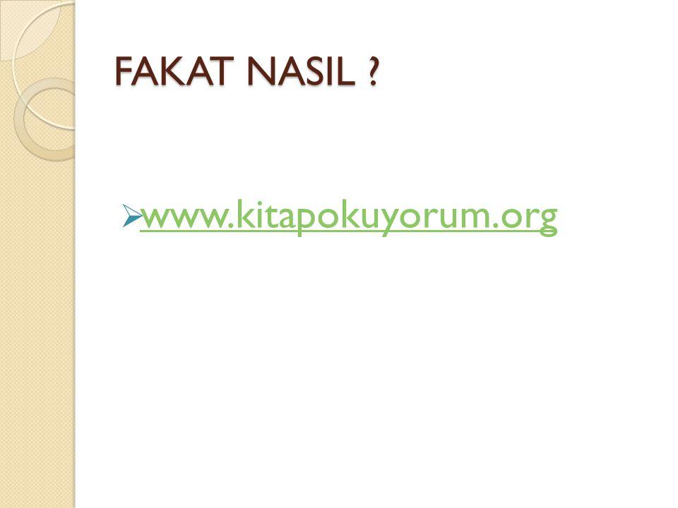 FAKAT NASIL www.kitapokuyorum.org