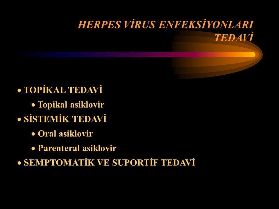 HERPES VİRUS ENFEKSİYONLARI TEDAVİ