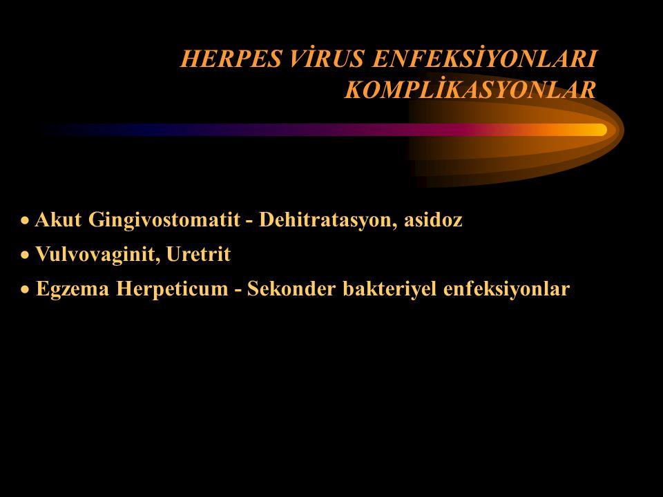 HERPES VİRUS ENFEKSİYONLARI KOMPLİKASYONLAR