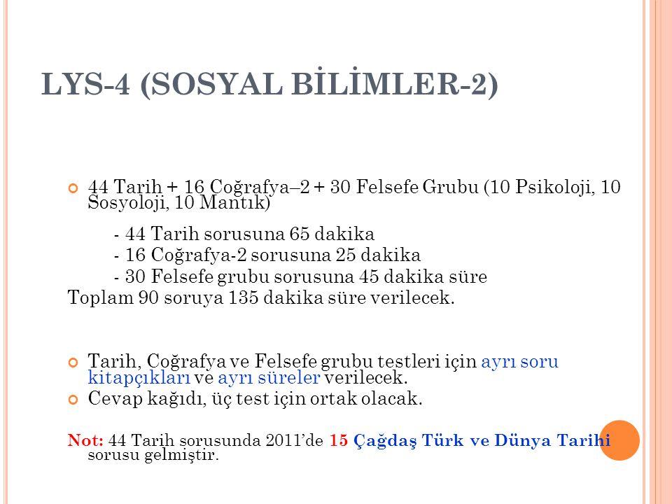 LYS-4 (SOSYAL BİLİMLER-2)