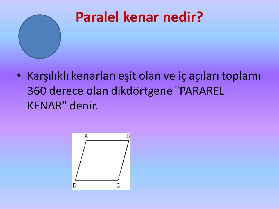 Paralel kenar nedir.