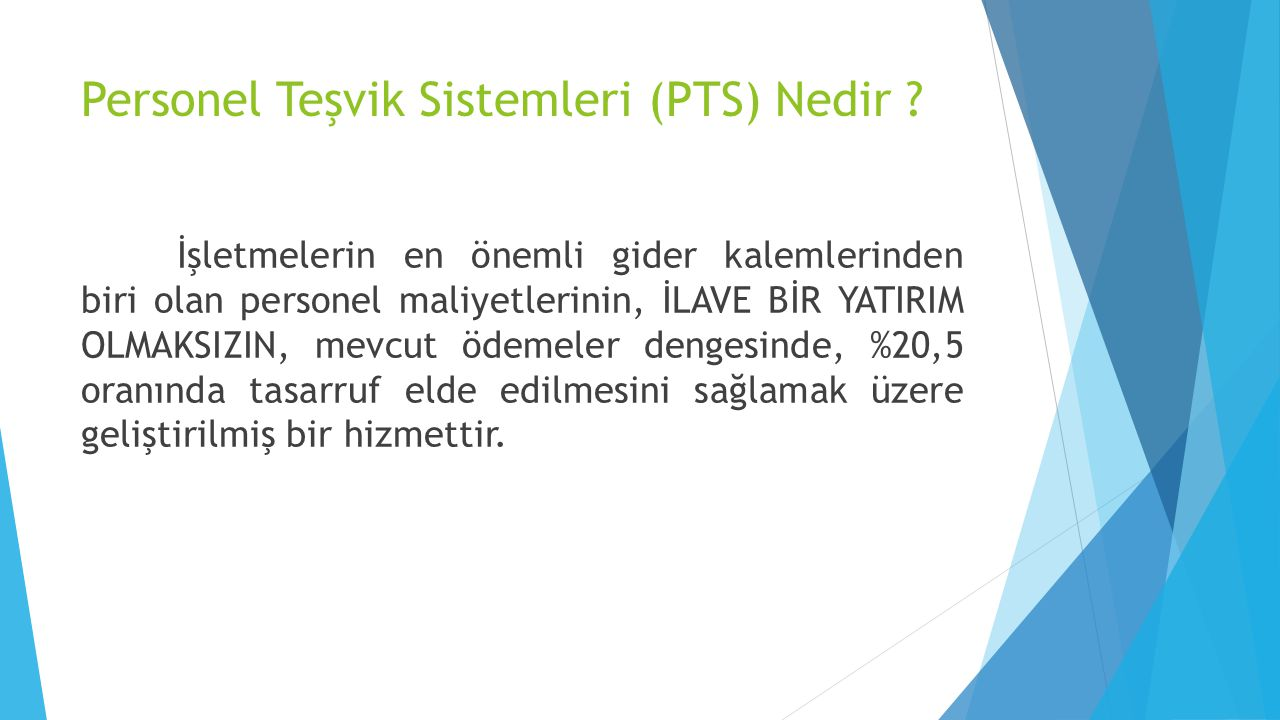 Personel Teşvik Sistemleri (PTS) Nedir