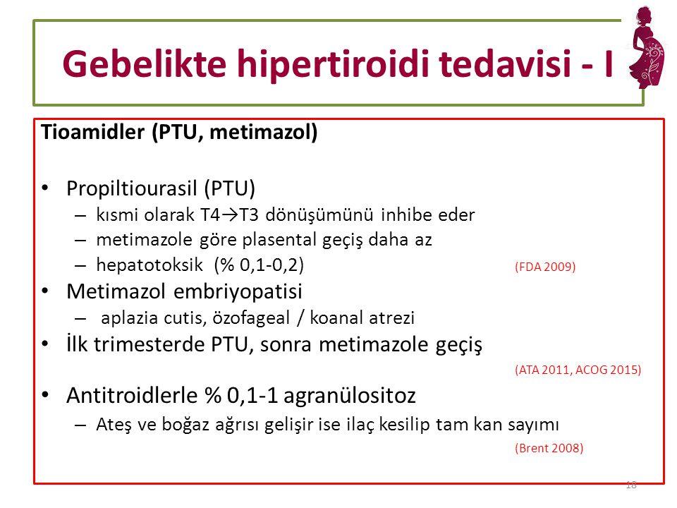 Gebelikte hipertiroidi tedavisi - I
