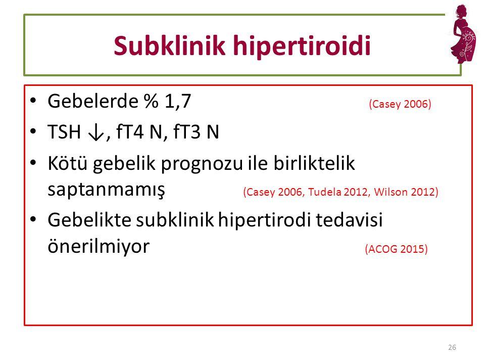 Subklinik hipertiroidi