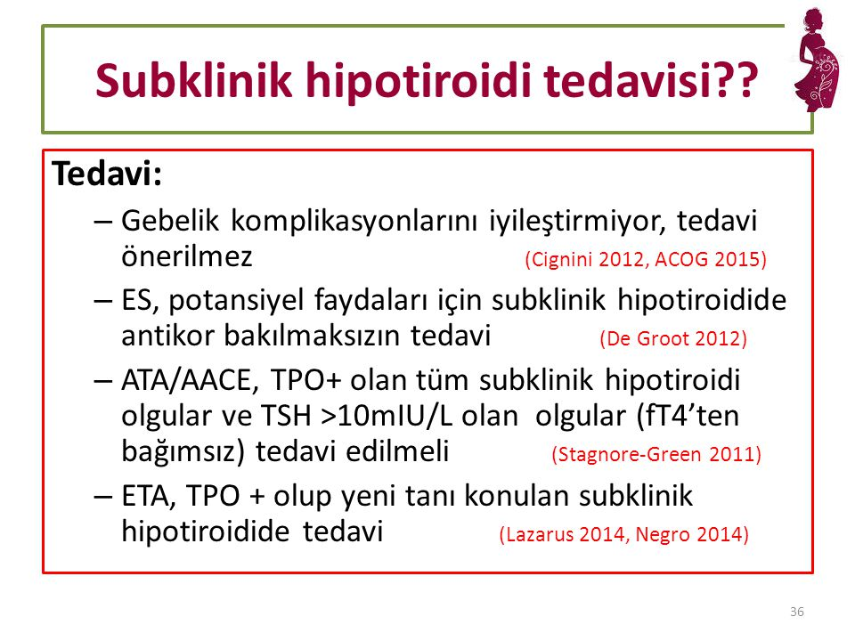 Subklinik hipotiroidi tedavisi