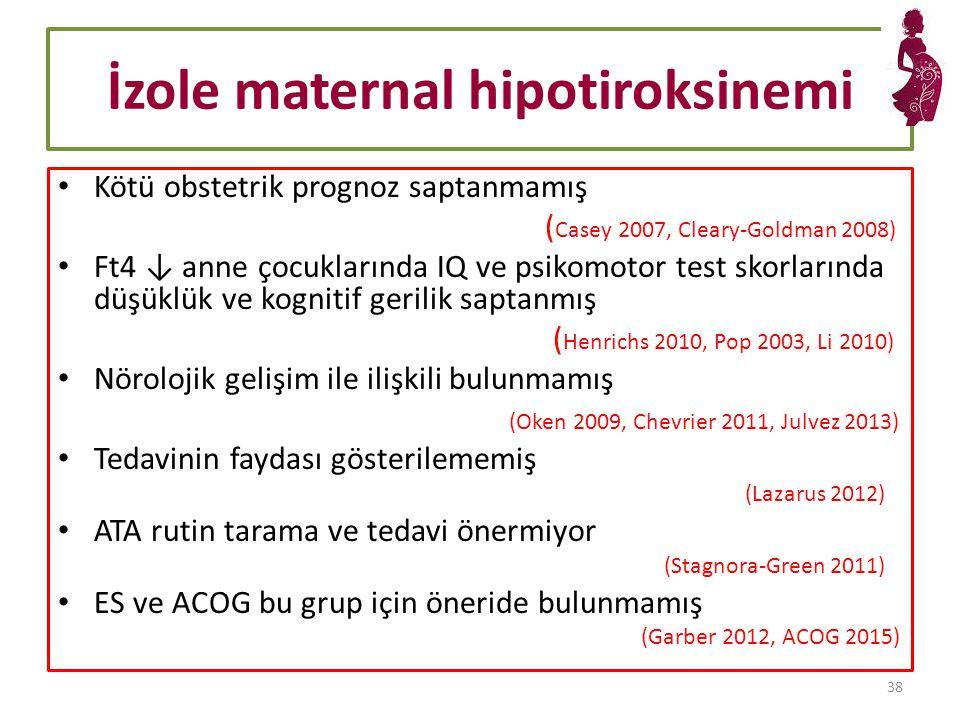İzole maternal hipotiroksinemi
