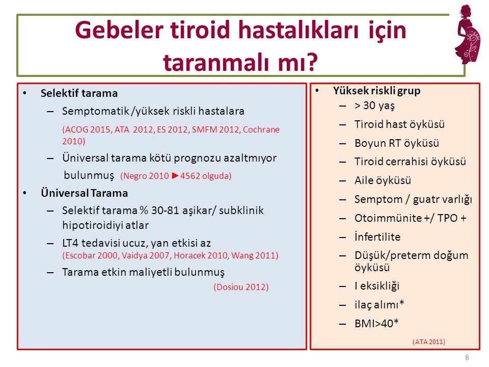 Gebeler tiroid hastalıkları için taranmalı mı