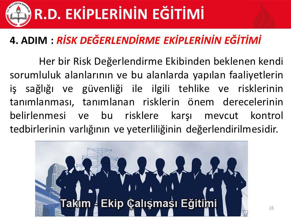 R.D. EKİPLERİNİN EĞİTİMİ