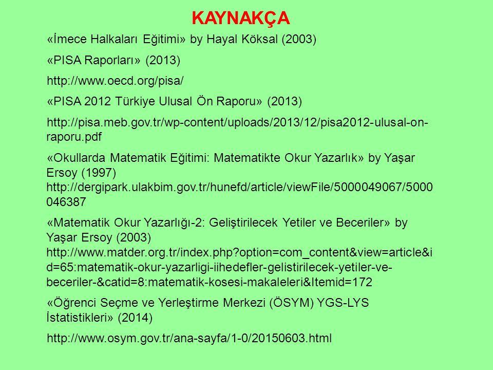 KAYNAKÇA «İmece Halkaları Eğitimi» by Hayal Köksal (2003)