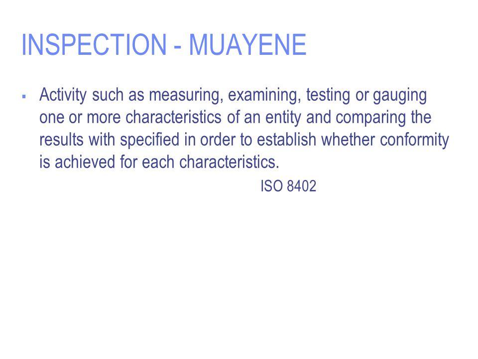 INSPECTION - MUAYENE