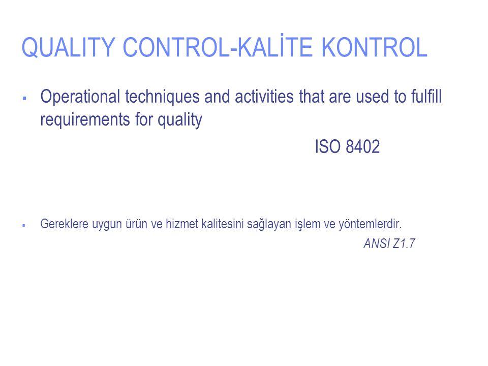 QUALITY CONTROL-KALİTE KONTROL