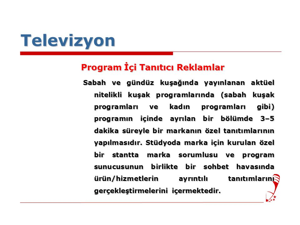 Televizyon Program İçi Tanıtıcı Reklamlar