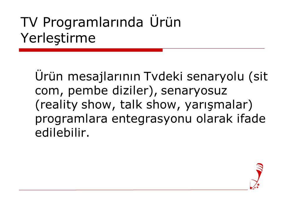 TV Programlarında Ürün Yerleştirme