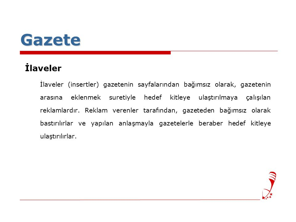 Gazete İlaveler.