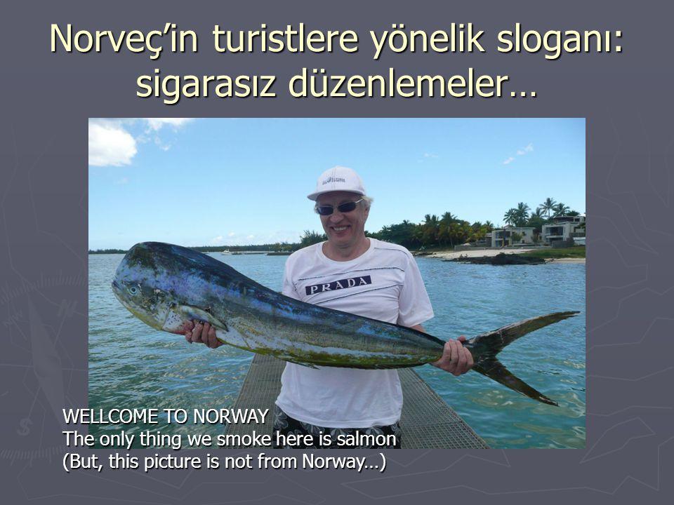 Norveç'in turistlere yönelik sloganı: sigarasız düzenlemeler…