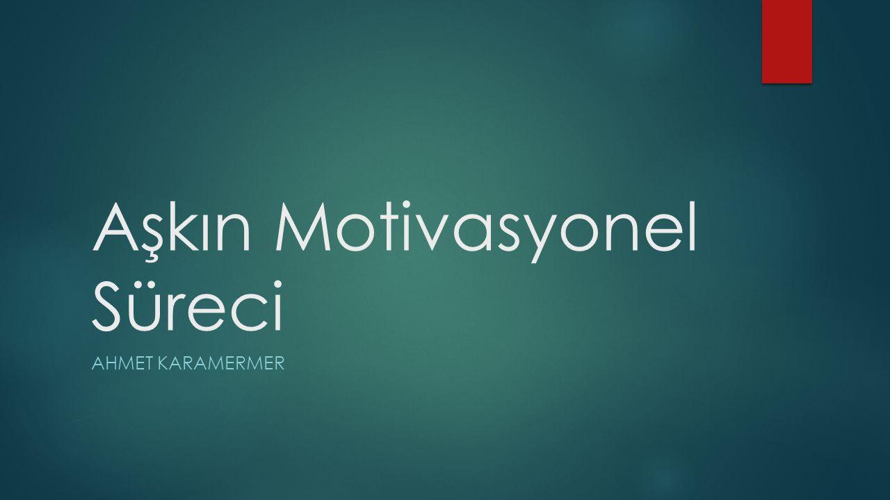 Aşkın Motivasyonel Süreci