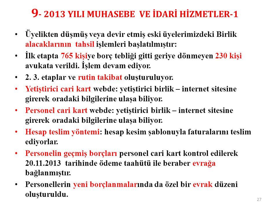 9- 2013 YILI MUHASEBE VE İDARİ HİZMETLER-1