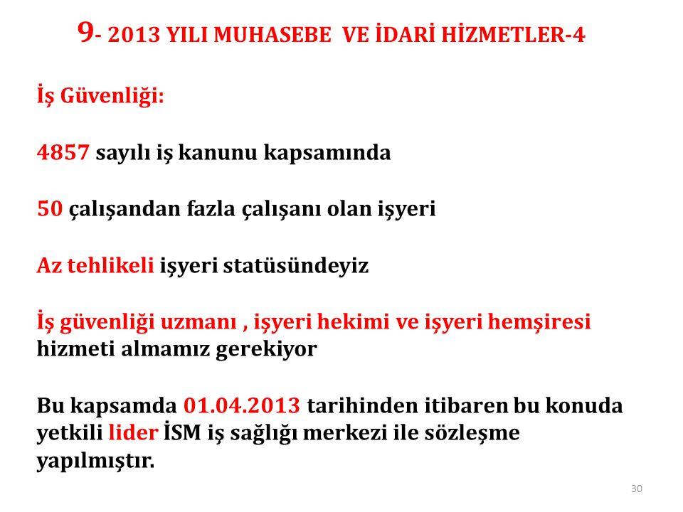 9- 2013 YILI MUHASEBE VE İDARİ HİZMETLER-4