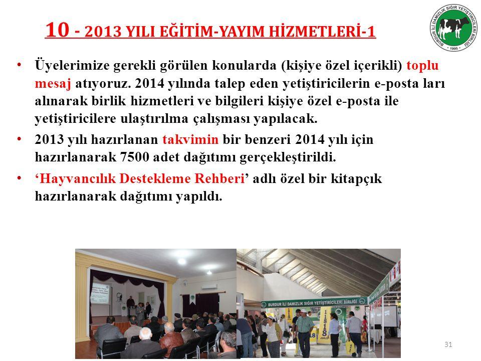 10 - 2013 YILI EĞİTİM-YAYIM HİZMETLERİ-1