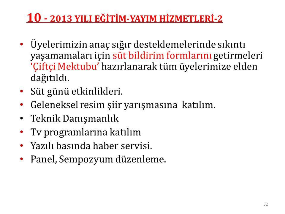10 - 2013 YILI EĞİTİM-YAYIM HİZMETLERİ-2