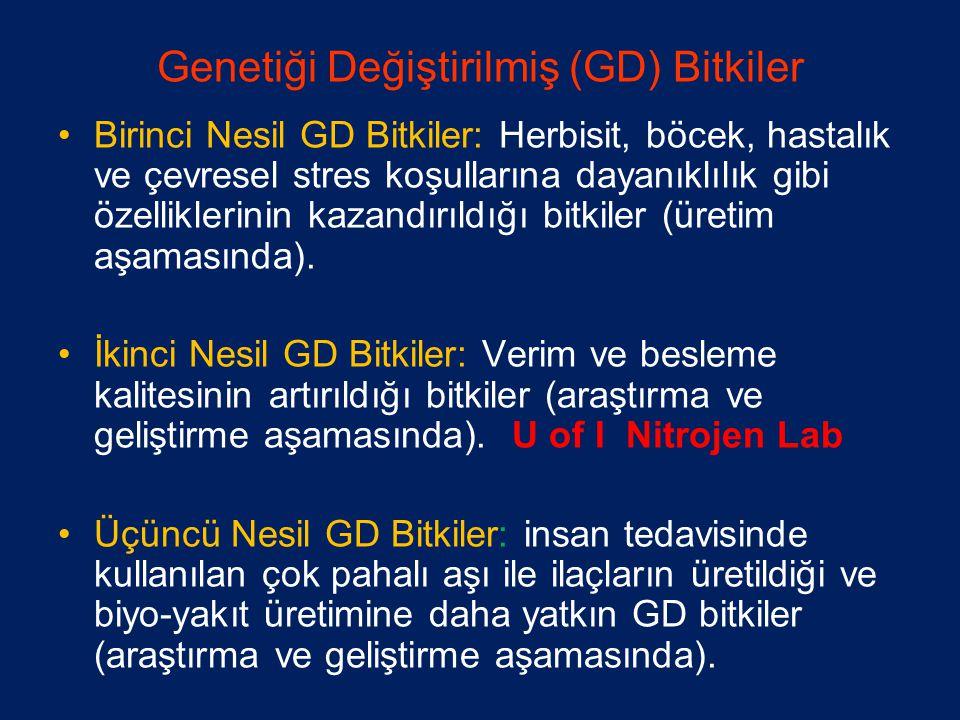 Genetiği Değiştirilmiş (GD) Bitkiler