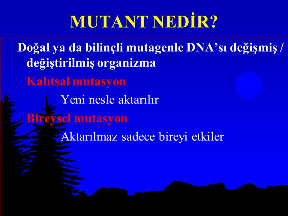 MUTANT NEDİR