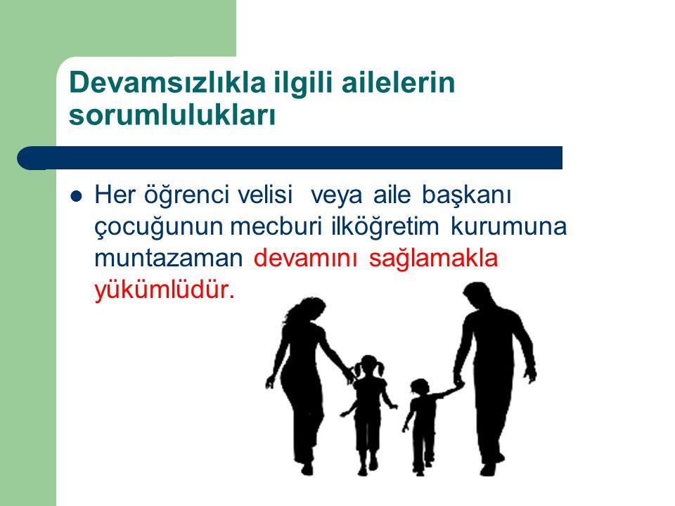 Devamsızlıkla ilgili ailelerin sorumlulukları