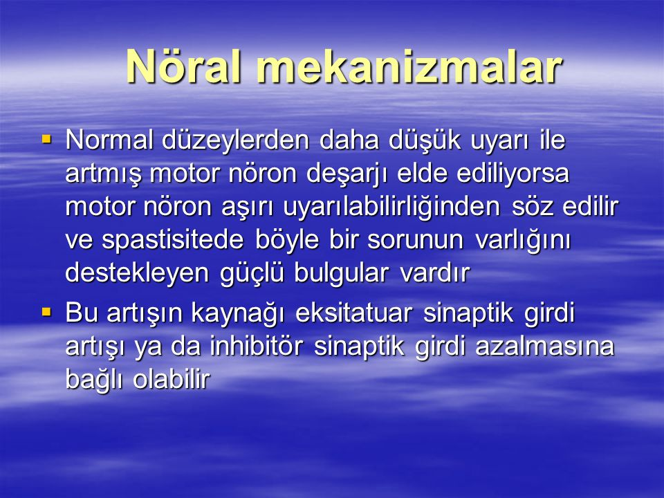 Nöral mekanizmalar
