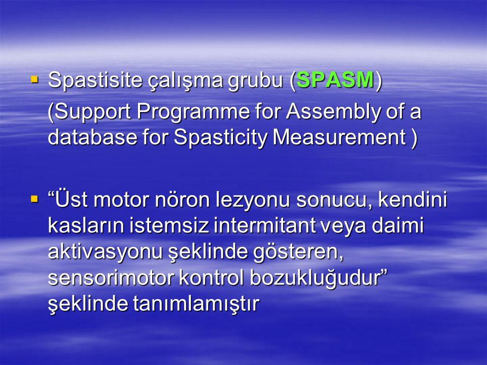 Spastisite çalışma grubu (SPASM)
