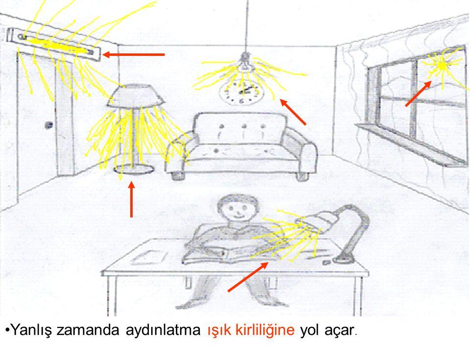 Yanlış zamanda aydınlatma ışık kirliliğine yol açar.