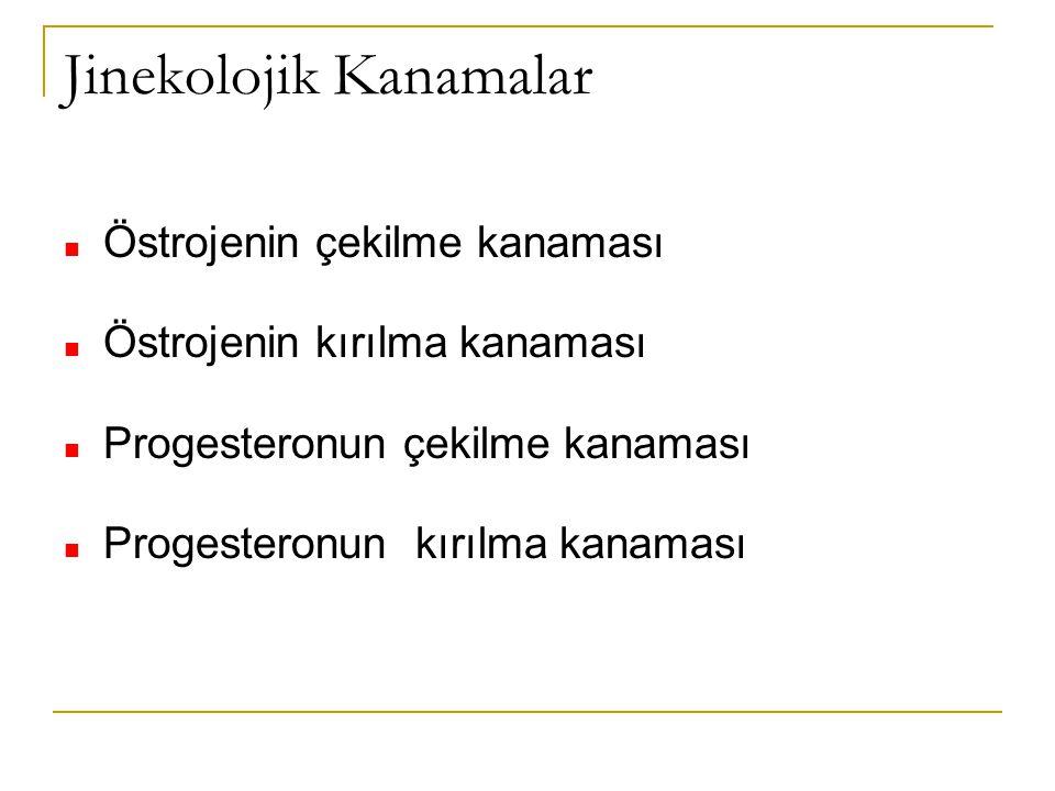 Jinekolojik Kanamalar