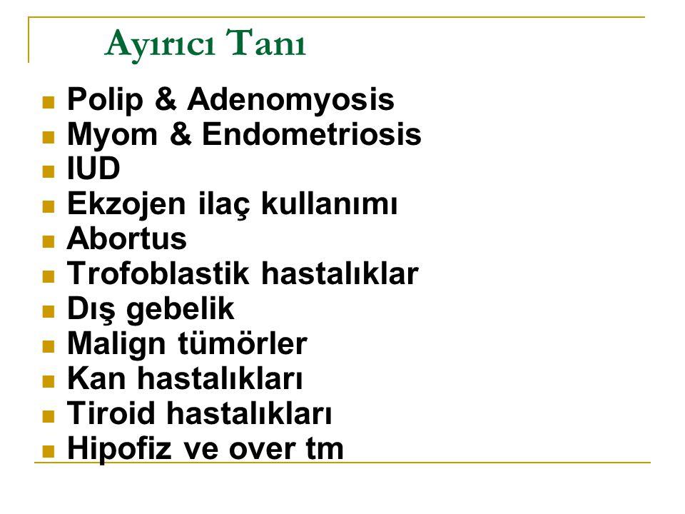 Ayırıcı Tanı Polip & Adenomyosis Myom & Endometriosis IUD